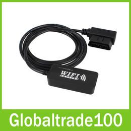 Wholesale Obd2 Checker - Black Wifi OBD Auto Checker OBD2 OBDII Car Diagnostic Scanner Code Reader For PC iPhone iPad Free Shipping