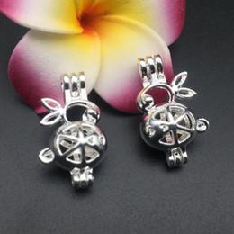 Pearl клетка ожерелье подвеска, эфирный масляный диффузор, кролик обеспечивает серебро покрытие 10 ПК, а также ваш собственный жемчуг делает его более привлекательным от
