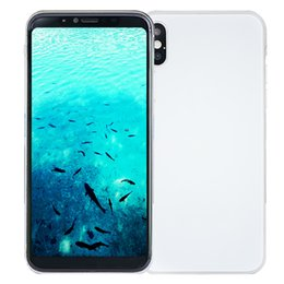 Wholesale Wireless Free Android Smartphone - Face ID Goophone X 3G WCDMA 1GB 8GB+32GB Quad Core MTK6580 Android 7.0 Metal Body Frame Back Glass Smartphone + Free Wireless Charger + Bag