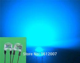 Wholesale Through Hole 8mm - 100x Led 8mm 0.5W Straw Hat Blue High Power LED Light Urtal Bright Led Lamp Light Bulb F8MM Emitting Diodes