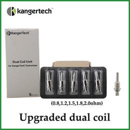 Wholesale dual coil clearomizers - Upgraded Dual Coils For Kanger Aerotank mega mini protank 3 T3D EVOD 2 glass dual coil atomizers clearomizers subohm coils vs atlantis coils