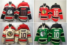 Wholesale Low Price Sweatshirts - Factory Outlet, Drop Shipping Low Price Chicago Blackhawks hooded Jersey #10 Patrick Sharp Old Time hoody Ice Hockey Hoodies Sweatshirts