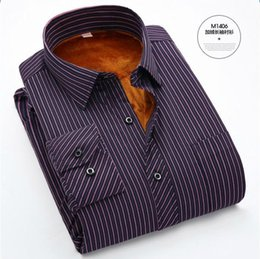 Wholesale Moda Mens - Wholesale-6xl plus size mens shirts Cheap High Quality thermal Long Sleeve Striped Shirts big size men clothing moda hombre Chemise Homme