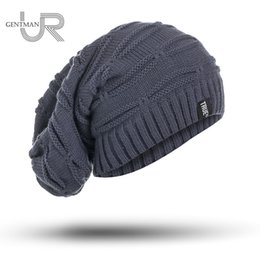 Wholesale Beanie Long Men - New True Letter Winter Hat Long Size Knitted Cap High Quality Casual Beanies For Men & Women Solid Bonnet Cap