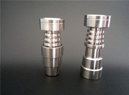 Wholesale Pure Titanium Glasses - Domeless Titanium Nail fits to 14mm &18mm.GR2 Pure Titanium Nail 4 In 1 for Water Pipe Glass Bong Smoking.