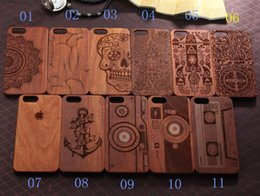 Wholesale Iphone Laser Engraving - Wooden Phone case 11 pattern Mobile accessories laser engraving custom design wooden cell phone case for iphone 6 plus case Galaxy S7 S6