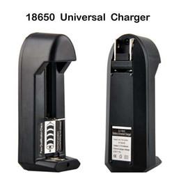 E cigs baterias recarregáveis on-line-E cigs Carregador Universal Único Slot Carregador para Bateria Li-ion Recarregável 18650 18350 Bateria VS Nitecore I4 I2 UM20 D4 Trustfire