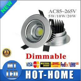 Wholesale Led 5w Cold - x30 high brightness Factory Directly Sales Dimmable 5w 10w 20w cob led downlight ceiling spot light warm cold white plafond recessed lights