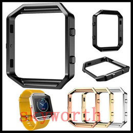 Wholesale Covered Watch Band - Metal Bumper For Fitbit Blaze Accessory Watch List Box Watchcase Frame Holder Case Cover Band Smart Watch