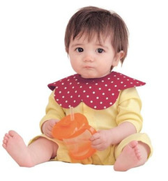 Wholesale Butterfly Baby Bib - 2016 Cute Baby Boys Girls Bibs Babies Bibs Burp Cloths Children Kids Burp Cloth Child Boy Girl Butterfly Stripe Bib 9 styles
