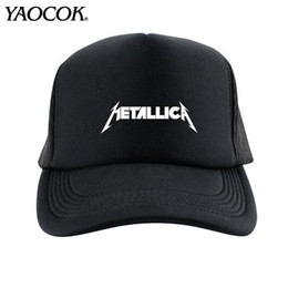 Wholesale Punk Rock Hip Hop Cap - FREE SHIPPING Wholesale FASHION Casual Hip Hop Logo Custom metallica Punk Rock Band Cool Mens Knit Hats And Snapback Caps Sport Brand Winter
