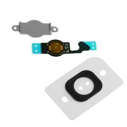 Wholesale Key Wholesale Home - BLACK or White Home Menu Button Key Cap + Flex Cable + Bracket Holder for Apple iPhone 5 5C 10sets lot