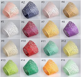 Wholesale Cake Tool Box - New Fashion 50Pcs Set Cupcake Wrappers Hollow Carved Baking Cups Cases Muffin Boxes Cake Cup Decorating Tools Kitchen Cake Tools