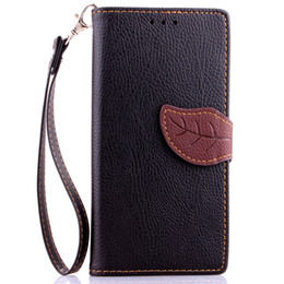 Wholesale E3 Case - 300PCS Leaf Wallet Flip PU Leather Case Stand TPU Cover With Card Slots for Sony Z1 Mini Z2 Z3 Mini Z4 Mini E3 E4 M2 No Package