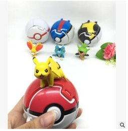 Explodindo bola animal de estimação bola deformada pode ser lançada bola 4 chiqueiros. de Fornecedores de figuras de gashapon