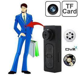 Wholesale Cctv Color Camera - Spy Button Camcorder Pinhole Hidden DV CCTV Camera Video PC Webcam Camcorder Voice Recorder(Black Color)