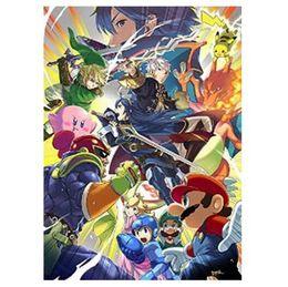 Wholesale Super Smash - 2014 New Super Smash Bros Home Decoration Movie Poster Custom Fashion Classic 50x75CM Wall Sticker Free Shipping KO 382896