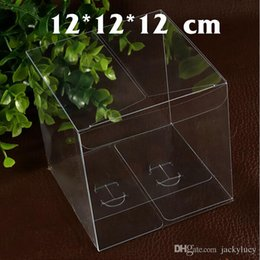 Wholesale Clear Top Gift Boxes Wholesale - Top Quality 12 * 12 * 12 cm Environmentally Clear PVC Packaging Box Plastic Containers Fruit Candy Cake Toys Gift Box Free Shipping