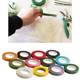 Wholesale Florist Wholesalers - Wholesale- Corsages Buttonhole Artificial Flower Stamen Wrap Florist Floral Stem Tape Resealable Wrap -Y102