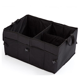 Wholesale fabric trunks - Folding Organizer Toy Storages Box High Capacity Car Trunk Storage Container Bag Waterproof Black 12 54bm C R