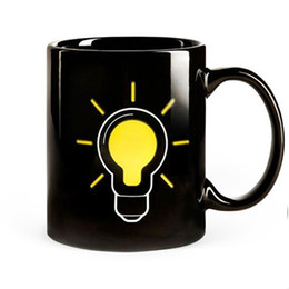 Wholesale Tea Light Change - 2016 BULB Light Up Color Changing Hot Cold Heat Sensitive Coffee Tea Mug Ceramic Cup