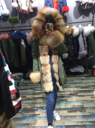 Wholesale Wide Hats - real fox fur coat wilth large fox fur hat with real lining real parka fur