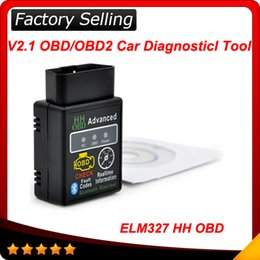 Wholesale Diagnostic Bluetooth - 2016 New arrival Auto Car ELM327 HH Bluetooth OBD 2 OBD II Diagnostic Scan Tool Scanner free shipping