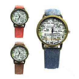 Wholesale Vintage Pointer - Wholesale-Vintage Design Round Glass Dial Quartz Analog Watch Time Pointer Adjustable Band