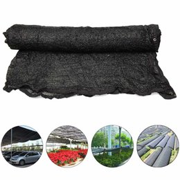 Wholesale Flexible Cloth - Wholesale- 118x118inch Sunshade Net car garden sun cover shelter Permeability 40% UV Resistant Fabric Shade Cloth Flexible + Button