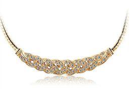 Wholesale Czech Crystal Necklaces - Wholesale (30 pcs lot) Fashion Crystal Luxury Czech drilling elegant waltz female short clavicle Chain Necklace