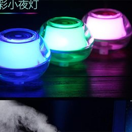 Wholesale Impeller Humidifier - Free DHL new Backlight Crystal USB Air Ultrasonic Humidifier Fogger Aroma Mist Maker Aromatherapy Essential Oil Diffuser for Home Office