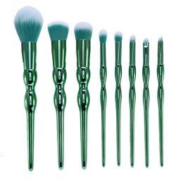 Wholesale plastic gourds - Makeup Brushes Green Gourd 8pcs Makeup Brushes Set Foundation Powder Eyeshadow Kits Contour Brush Makeup Brush Set