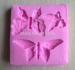 Wholesale Chocolate Butterfly Molds For Fondant - Butterfly silicone fondant cake molds soap chocolate mould for the kitchen baking C321