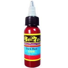 Wholesale Tattoo Ink Red Color - Wholesale- Solong Tattoo New Taty Ink Arrival Tattoo Pigment Solong Ink Dark Red Color 1oz 30ml Bottle TI301-30-021