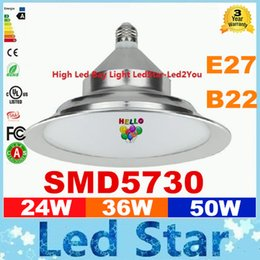 Wholesale E27 Outdoor - 2016 Rushed Led High Bay Light E27 B22 Lighting 24W 36W 50W 5730 SMD Pendant Lamps School Shop Warehouse Outdoor Indoor Lightings Decoration