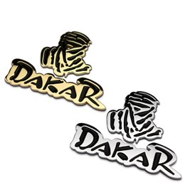 Wholesale Stickers Rally - Free Shipping Hot Sale 1 PC 3D Metal Dakar Rally Badge Logo Car Sticker Motorcycle Emblem Car Styling & Decoration in 2 Colors