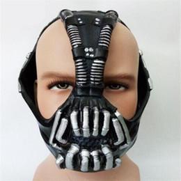 Wholesale Life Size Silicone - Free Shipping 2017 High Quality Cos Bane Mask Cos Batman Dark Knight Mask Halloween Horror costume ball bane Helmet Latex Mask Life Size