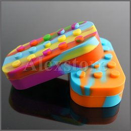 Wholesale Pen Silicone - Nonstick Wax Containers 6+1 silicone big wax can Silicon container Colorful wax jars dab storage dabber jar oil vape pen Dry Herb
