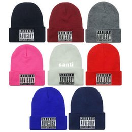 Wholesale Turban Party Women - New Arrive PARENTAL ADVISORY EXPLICIT LYRICS HipHop Beanies and Skullies Cap Men Wool Turban Knitted Hats for Women Winter Hat