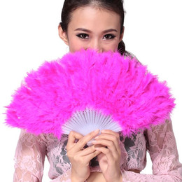 2019 freie liebe blumen rosen Feder Fan Zeigen Mädchen Feder Fans Falten Dance Hand Fan Phantasie Kostüme Für Frauen Halloween Hochzeit Liefert