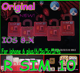 Wholesale T Mobile Iphone 5s Wholesale - R SIM 10 RSIM 10 R-SIM 10 r sim10 Unlock Card Perfect unlock iphone 6 plus iphone 6 5s 5 4s IOS8 ios 8.x AT&T T-mobile Sprint WCDMA GSM CDMA