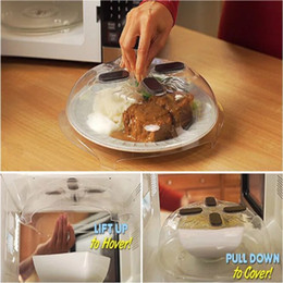 Wholesale Plastic Seal Lid - Food Splatter Guard Microwave Hover Anti-Sputtering Cover Oven Oil Cap Heated Sealed Plastic Cover Dish Dishes Food Cover c275