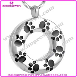 Wholesale Selling Stainless Steel Necklace Chain - IJD8084 Cheap hot selling 316L stainless Steel Cremation urns ash jewelry for Pets Circle of life