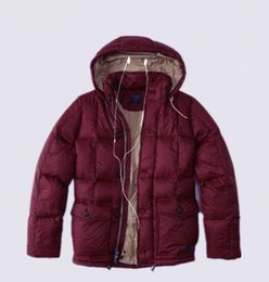 Wholesale Parker Top - Top sales US Warmed NY cotton down jacket with hoodies Punk boy Patchwork zipper Parkas puff jacket Flying Parker Men's Outerwear Coats
