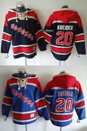 2015 Newest Wholesale Men s New York Rangers  20 kreider black blue Hooded  Jerseys Hockey Hoodies Jerseys Sweatshirts 5ac1646b3