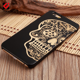 Wholesale Iphone 5s Mobile Case - Deluxe Art Wood U&I Cover for iPhone 5 5S 6 7 7Plus 8 Plus x Mobile Phone Capa Engrave Case Collection carving Coque