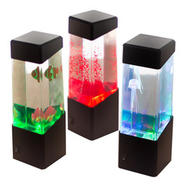 Wholesale Jellyfish Home Aquariums - Jellyfish Lamp Jellyfish Tropical Aquarium Light Fish Tank LED Light LED Desktop lamp Relaxing Bedside Mood Night Light