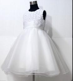 Wholesale Dress Sz 12 - White Christening Communion Wedding Flower Girls Dress SZ 2-3-4-5-6-7-8-10-11-12