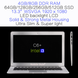 Wholesale Intel I3 Notebook - DHL-Delivery-in-Stock 13.3inch Intel i3 HM76 8GB Ram 512GB SSD hard disk laptop LED backliight LCD Win7 Win8 Notebook Ultra slim (C6+i3)