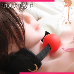 Wholesale Toughage Cuffs - Wholesale-TOUGHAGE C408 open mouth gag & wrist restraint fetish collar set,cuffs sex products for couples,adult sex games erotic toys